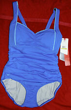 Speedo Onepiece Swimming Pool Size 14 Blue Switch Back Straps