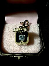 JUICY COUTURE Pink Jewelry Box Charm with Large Heart Shaped Crystal Inside