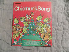 "RARE Vintage Christmas ""The Chipmunk Song"" 45 Record"