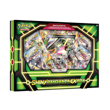 Collectible Trading Cards Pokemon Shiny Rayquaza EX Box 4 TCG Booster Packs