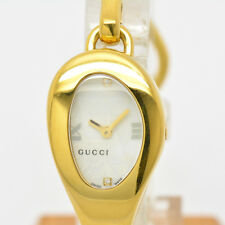 Auth Used GUCCI 103 Luxury watch for women 2P diamond White Dial #2335
