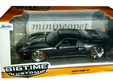 JADA BIGTIME 97366 2005 FORD GT 40 1/24 DIECAST BLACK with SILVER STRIPES