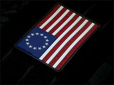Betsy Ross Flag 3D PVC Morale Patch MoeGuns 2A American Patriot 3% Militia