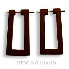 Ohrringe Goa Design Creolen Holz Wood Earrings Handarbeit Schmuck ER056