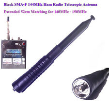 Black Whip 52cm Ham Amateur Radio 144MHz 2Meter Band SMA-F Telescopic Antenna