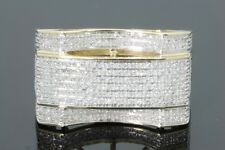 10K SOLID YELLOW GOLD .50 CARAT REAL DIAMOND ENGAGEMENT RING WEDDING PINKY RING