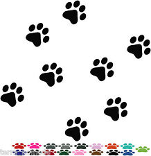141 x Dog Paw Print Stickers Car Decals animal Lots of Colours, 4x4
