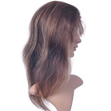front lace wig 100% remy indian human hair straight full wigs 4/27# 14inch wigs