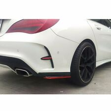 color Black + Red Line FOR BENZ W117 Rear Fin cover & Bumper Splitter Spoiler