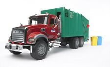 Bruder Toys MACK Granite Garbage Truck in Red and Green 02812