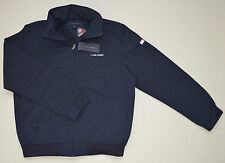 New With Tag TOMMY HILFIGER men's Yacht Jacket, M, Medium, Navy Blue, Full Zip