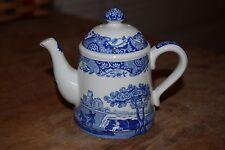Spode Blue Italian Mini Teapot Salt/Pepper Shaker   MADE IN ENGLAND