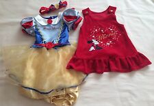 Christmas Minnie Mouse & Snow White Baby Girls Dress Bundle 6-12m