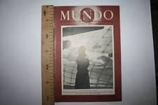 MUNDO, AÑO 1º, Nº 34º, MADRID, 29 DE DICIEMBRE DE 1940, INVIERNO , VER FOTOS