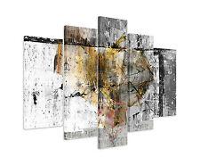 Abstrakt_1357_5 teilig - 150x100cm modernes Leinwandbild Paul Sinus modern XXL