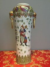 "Antique Chinese Qing Dynasty Collectible Hand Paint Vase 18"" Tall"