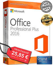 Microsoft Office 2016 Pro Plus 32/64Bit Licencia Original - Multilenguaje 5PCS