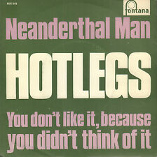 "HOTLEGS (PRE 10CC) ‎– Neanderthal Man (NEAR MINT 1970 VINYL SINGLE 7"" DUTCH PS)"