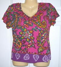 Choice Women Pull Over Top XL 65/35 Cotton/ Rayon Short Sleeve T83