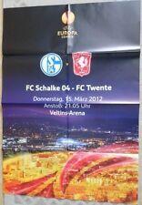 Spielplakat + 15.03.2012 + FC Schalke 04 vs. FC Twente + UEFA Europa League +