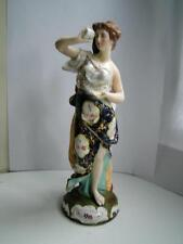 Antique German Sitzendorf porcelain figure classical girl blue mark C1890s