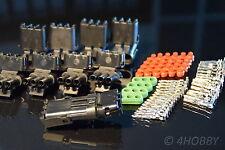 5 Paar Stecker + Buchsen, 3-polig Wasserdicht (Silikondichtung) 1,5mm²  KFZ LPG