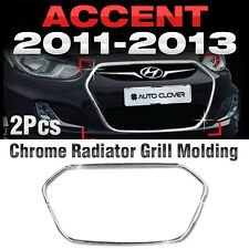 Chrome Radiator Grill Garnish Molding B225 For HYUNDAI 2011-2017 Accent Verna