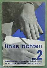 Paul Schuitema, 1932 LINKS RICHTEN 2, communism (extremely rare) Jef Last Aragon