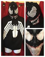 UNRELEASED Marvel Comics Costume/Cosplay VENOM: Full Zip Hoodie & Shirt: SMALL