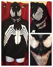 UNRELEASED Marvel Comics Costume/Cosplay VENOM: Full Zip Hoodie & Shirt: SMALL