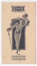 1919 Chicago Illinois, Advertising Dessauer & Engel, Dande Underwear, Clothing