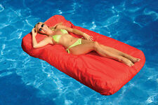 Swimline Red SunSoft Mattress Swimming Pool Float