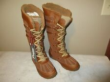 Women's Pajar Canada AVENTURE Tall WINTER BOOTS, Cognac, Sz 10 M (41), NEW $180
