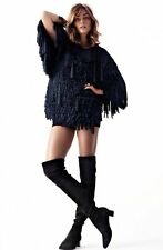 H&M Conscious Exclusive 2014 Collection Navy Fringe Dress/Tunic Size M