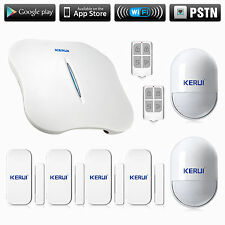 Home kerui w1 APP Control WiFi Alarm System kit for small House home office room