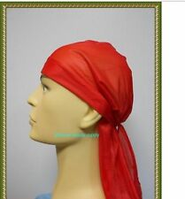 RED Wave Cap  sport hip hop du doo rag durag SKULL CAP HAT Nylon Tie Down tail