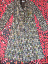 BEAUTIFUL JIGSAW GREEN TWEED DESIGNER LONG WINTER COAT, SIZE 10,GREAT CONDITION.