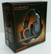 EACH G2000 STERO WIRED PRO GAMING HEADSET HEADPHONE HEADBAND W/MIC FOR PC LAPTOP