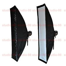 TWO 14x63 IN (35x160CM) FOLDABLE QUICK STRIP SOFTBOX + GRID FOR EINSTEIN E640