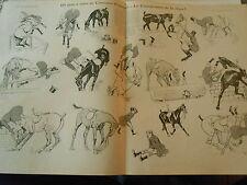 Prix créer Concours Hippique Le Championnat de la Chute ! Print Art Déco 1908