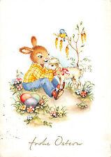 Hase mit kleine Schaf Ostern Postkarte