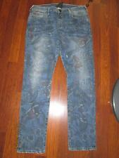 NWT TRUE RELIGION Audrey Rolled Slim Butterfly Print Jeans..size 28