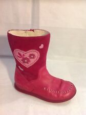 Clarks Pink Leather Boots Size 9.5F