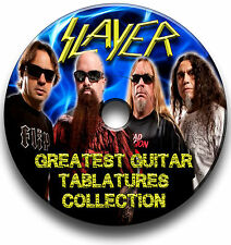 SLAYER THRASH HEAVY METAL ROCK GUITAR TABS TABLATURE SONG BOOK SOFTWARE CD