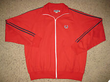 Fred Perry Sportswear Mens Full Zip Track Jacket Red Casual Dress Lounge XL Club