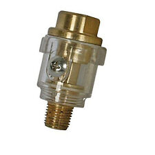 6mm Mini In-Line Oiler For Small Tools -55mm Length- BSP Male & Female - Brass