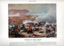 Stampa antica NAPOLEONE BONAPARTE 1799 Battaglia monte TABOR 1890 Old print