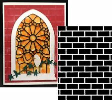 BRICK WALL PATTERN Embossing Folder - DARICE 1218-108 All Occasion folders
