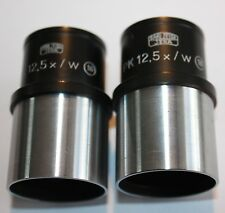 Pair of Carl Zeiss Microscope lens PK 12.5 x / w  16 PK12.5x/w 16mm