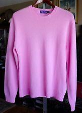 New sz L Ralph Lauren Purple Label 100% cashmere sweater suit, orig $2595